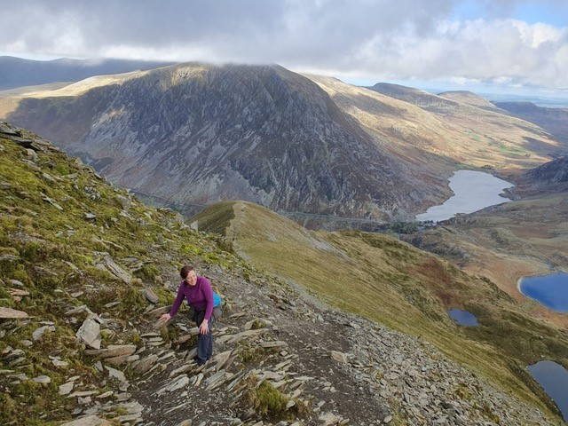 Marie Burns Yoga, Hiking the Mountains