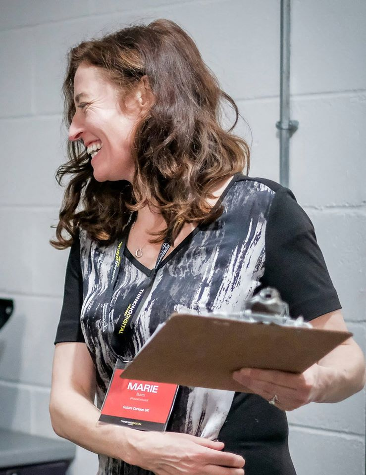 Marie Burns - Business Psychologist, producer of world class content events to include ThinkingDigal, ThinkingDigitalWomen, TEDx Liverpool, TEDxManchester, Northern Power Women Conference and Awards.