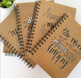 Personalised Notebooks Lettering Artist Shannon Andrews Personalised Stationary