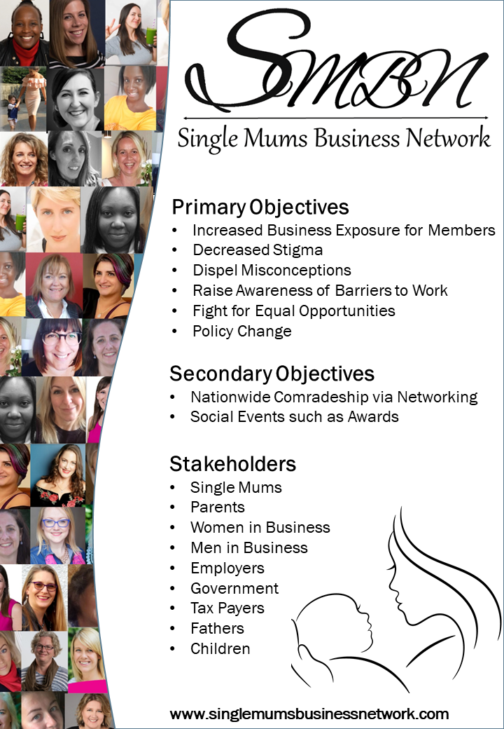 Single Mums Business Network Objectives Business Exposure Benefits Reduction Employee Wellbeing Equal Opportunities Single Mums Government Policy